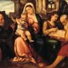 Bonifacio De Pitati (1487-1553). Sacra conversazione. Olio su tavola. Ca' Rezzonico.