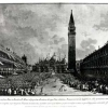 Trasporto del Doge in pozzetto nella Piazza di San Marco