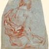 Giandomenico Tiepolo (1727 - 1804), Figura maschile seduta, 1747