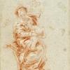 Giambattista o Giandomenico Tiepolo, La Vergine col Bambino