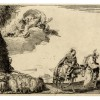 Giandomenico Tiepolo, La Sacra Famiglia in prossimità delle mura di una città