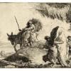 Giandomenico Tiepolo, Maria sostenuta da due angeli segue Giuseppe